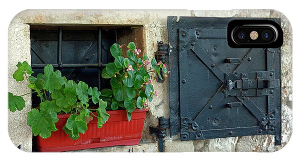 Mostar iPhone Case - Old Window by Sally Weigand