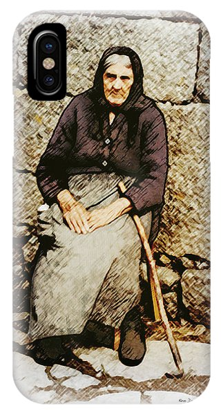 Old Woman Of Spain IPhone Case