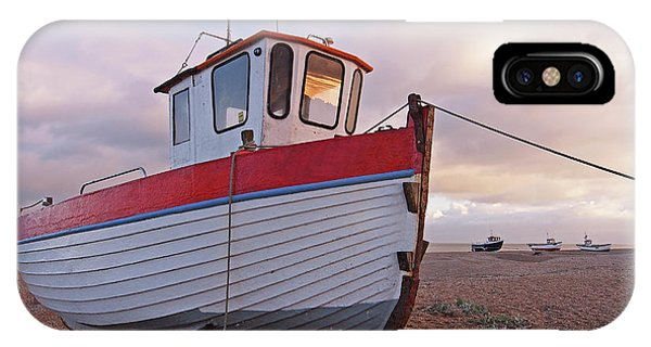 Old Wooden Fishing Boat Home By Sunset IPhone Case