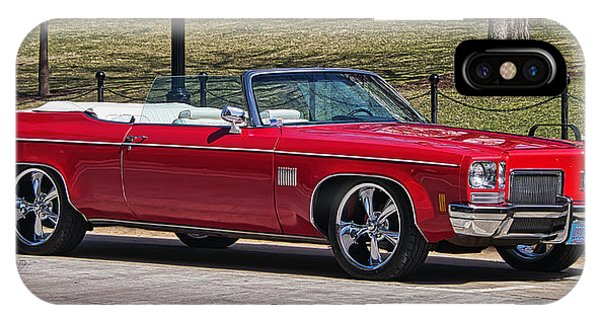 Oldsmobile Delta Royale 88 Red Convertible IPhone Case