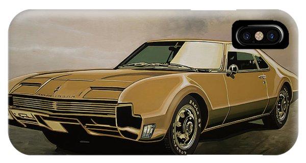 Oldtimer iPhone Case - Oldsmobile Toronado 1965 Painting by Paul Meijering