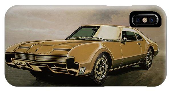Falcon iPhone Case - Oldsmobile Toronado 1965 Painting by Paul Meijering