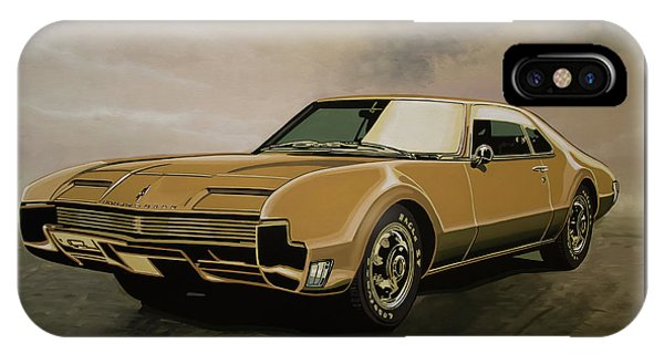 Falcon iPhone Case - Oldsmobile Toronado 1965 Painting by Paul Meijering