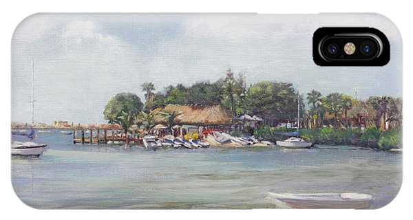 Tiki Bar iPhone Case - O' Leary's Tiki Bar And Grill On Sarasota Bayfront by Shawn McLoughlin