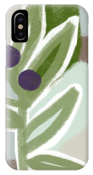 Branch iPhone Case - Olive Branch 1- Art By Linda Woods by Linda Woods