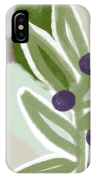Branch iPhone Case - Olive Branch 2- Art By Linda Woods by Linda Woods