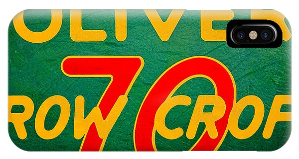 Vintage iPhone Case - Oliver 70 Row Crop by Olivier Le Queinec