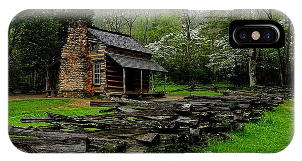 Oliver's Cabin Among The Dogwood Of The Great Smoky Mountains National Park IPhone Case