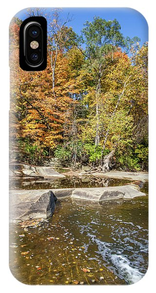 IPhone Case featuring the photograph Olmsted Falls Autumn Spendor by Lon Dittrick