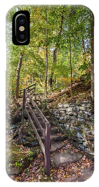 IPhone Case featuring the photograph Olmsted Falls Staircase by Lon Dittrick