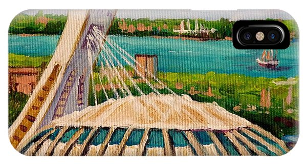 China Town iPhone Case - Olympic Stadium  Montreal by Carole Spandau