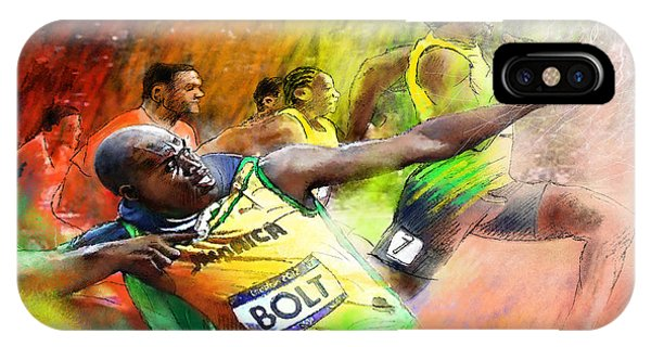 Olympics 100 M Gold Medal Usain Bolt IPhone Case
