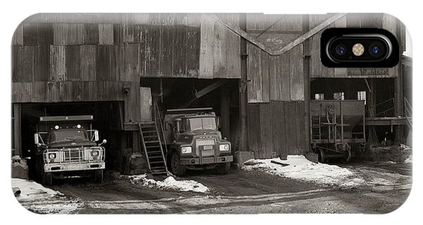 Olyphant Pa Coal Breaker Loading Trucks And Gondola Car Winter 1971 IPhone Case