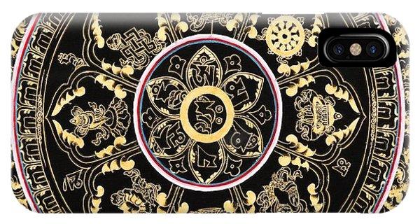 Siddharta iPhone Case - Om Mandala With Astamandala by Lanjee Chee