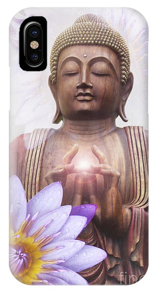 Om Mani Padme Hum - Buddha Lotus IPhone Case