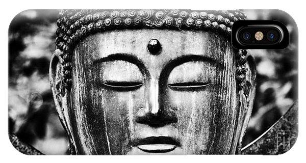 Buddhism iPhone Case - Om Shanti by Tim Gainey