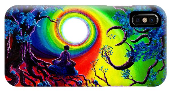 Lgbt iPhone Case - Om Tree Of Life Meditation by Laura Iverson