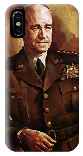 Leader iPhone Case - Omar Bradley by War Is Hell Store