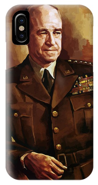 Staff iPhone Case - Omar Bradley by War Is Hell Store