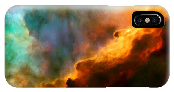 Swan iPhone X Case - Omega Swan Nebula 3 by Jennifer Rondinelli Reilly - Fine Art Photography