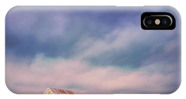 Aggie iPhone Case - Ominous Clouds Over The Aggie Barn In Reagan, Texas by Silvio Ligutti