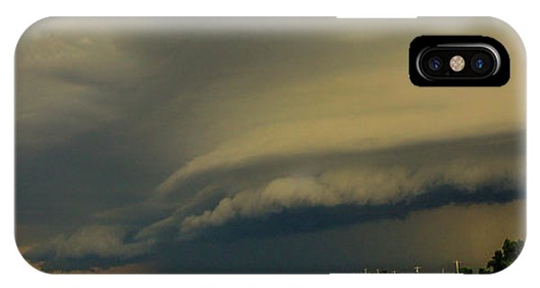 IPhone Case featuring the photograph Ominous Nebraska Outflow 007 by NebraskaSC