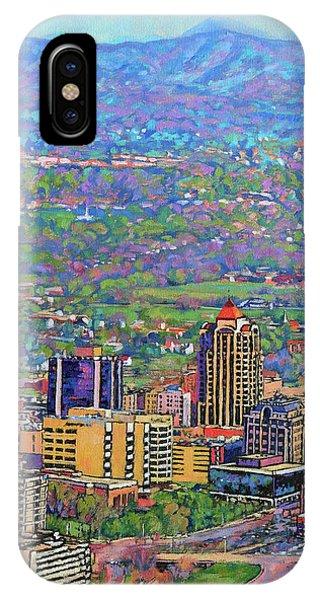On A Clear Day - A View From Mill Mountain IPhone Case
