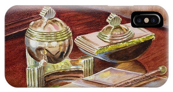 Hyper Realism iPhone Case - On A Desk At Eugene O Neill Tao House by Irina Sztukowski