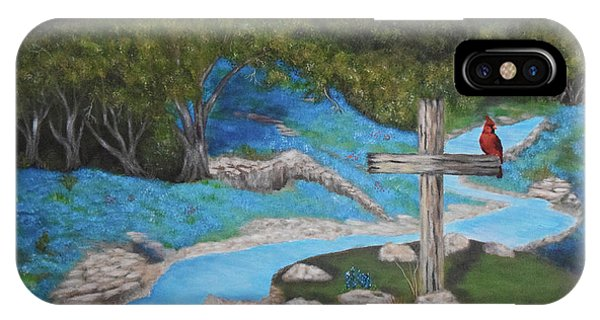 Old Rugged Cross iPhone Case - On A Hill Far Away by Belinda Nagy