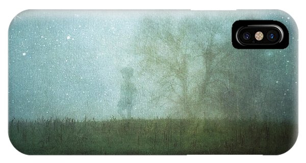 On A Starry Night, A Boy And His Tree IPhone Case