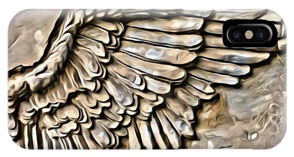 IPhone Case featuring the painting On Angels Wings by Marian Palucci-Lonzetta