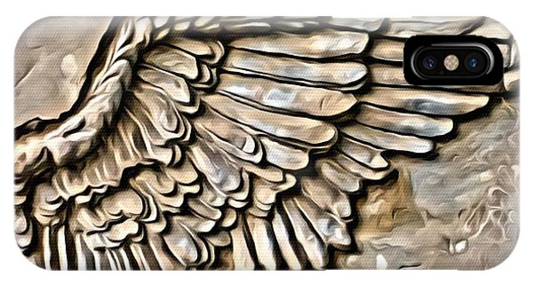 On Angels Wings IPhone Case
