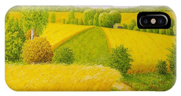 Salo iPhone Case - On August Grain Fields by Veikko Suikkanen
