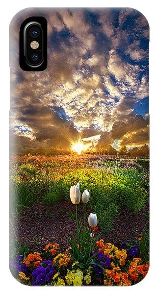 White Tulip iPhone Case - On Earth As It Is In Heaven by Phil Koch