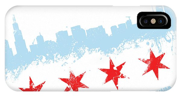 Chicago Art iPhone Case - Chicago Flag Lean by Mike Maher