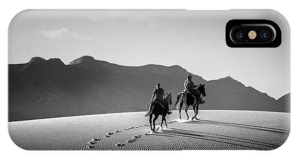 On Horseback At White Sands IPhone Case
