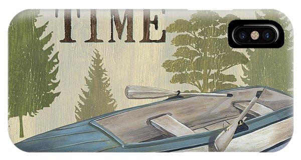 Cabin iPhone Case - On Lake Time by Debbie DeWitt