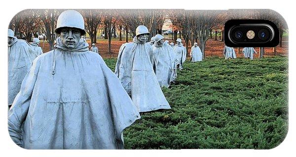 On Patrol The Korean War Memorial IPhone Case