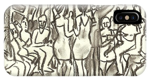 On The A, New York City Subway Drawing IPhone Case