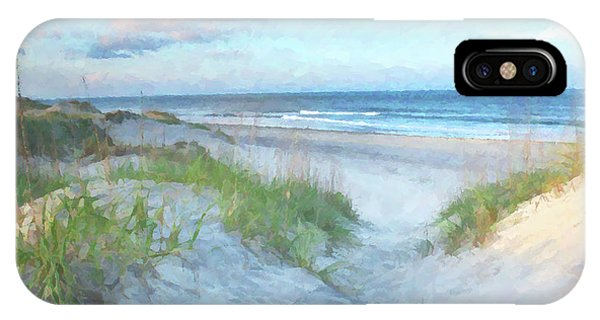 Nc iPhone Case - On The Beach Watercolor by Randy Steele