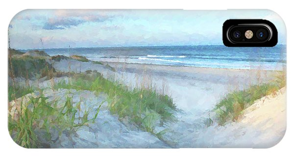 North Carolina iPhone Case - On The Beach Watercolor by Randy Steele