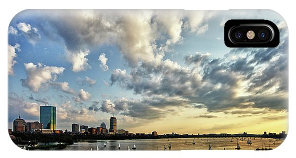 John Hancock Center iPhone Case - On The Charles II by Rick Berk