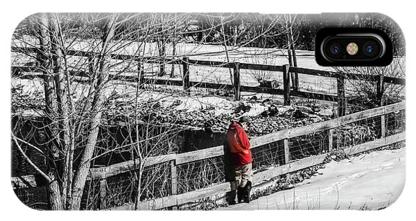 Wheeler Farm iPhone Case - On The Fence by Steven Milner