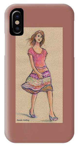 On The Go Fashion Illustration IPhone Case