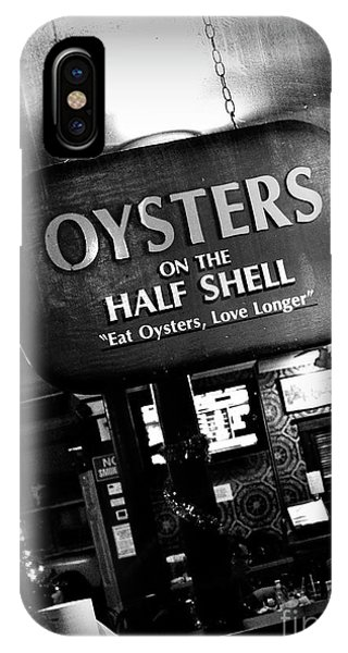 On The Half Shell - Bw IPhone Case