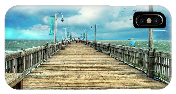 On The Pier At Tybee IPhone Case
