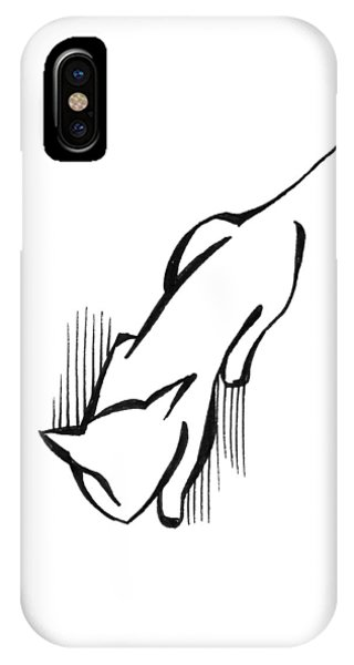 IPhone Case featuring the drawing On The Prowl by Keith A Link