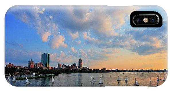 John Hancock Center iPhone Case - On The River by Rick Berk