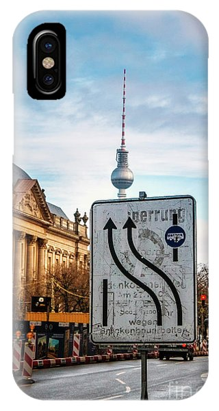 On The Road In Berlin IPhone Case