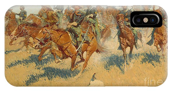 Cavalry iPhone Case - On The Southern Plains, 1907 by Frederic Remington